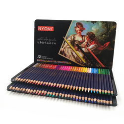 Акварельные карандаши для рисования, водорастворимые цветные карандаши для рисования, 72 шт., 12, 24, 36, 48 дюймов