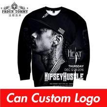 Rap nipsey hussle альбом 3D уличная Толстовка для женщин/мужчин с круглым вырезом и длинными рукавами из хлопка Harajuku Толстовка с принтом Весенняя Толстовка