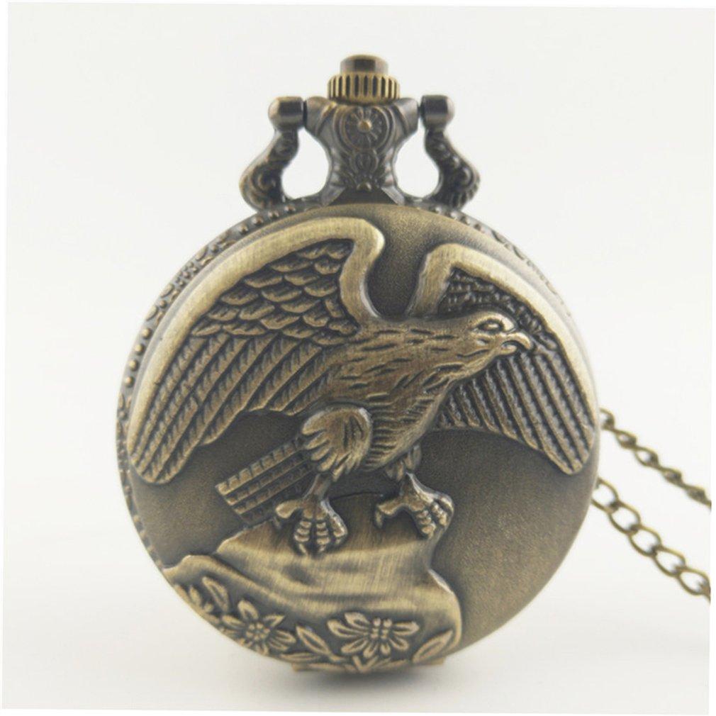 Vintage Bat Charm Fashion Men Women Quartz Pocket Watch Unisex Necklace Pendant Watches With Chain Best Gifts