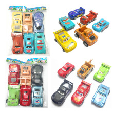 6pcs/set Boy Girl Cute Mini Pull Back Car Toys Cartoon Inertia Pullback Toy Set Truck Vehicle for Kids Toddlers 6pcs lot multicolor plastic cartoon mini pull back boy car model toys set educational toy for children car toys