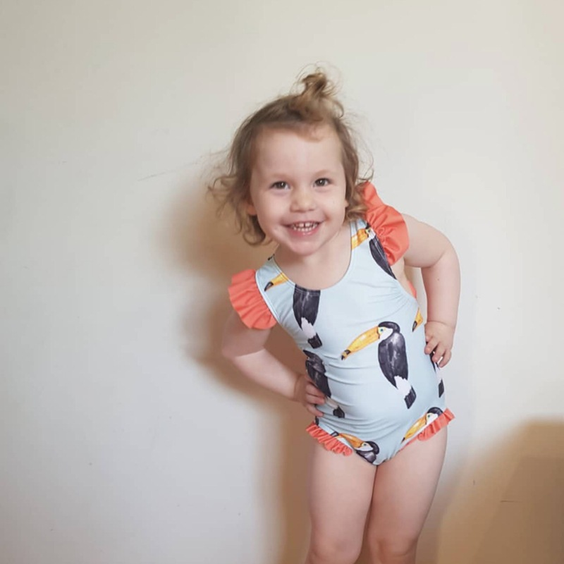 New Style KID'S Swimwear Girls Cute Cartoon TUCANO Female Baby Infant Bow One-piece CHILDREN'S Swimsuit
