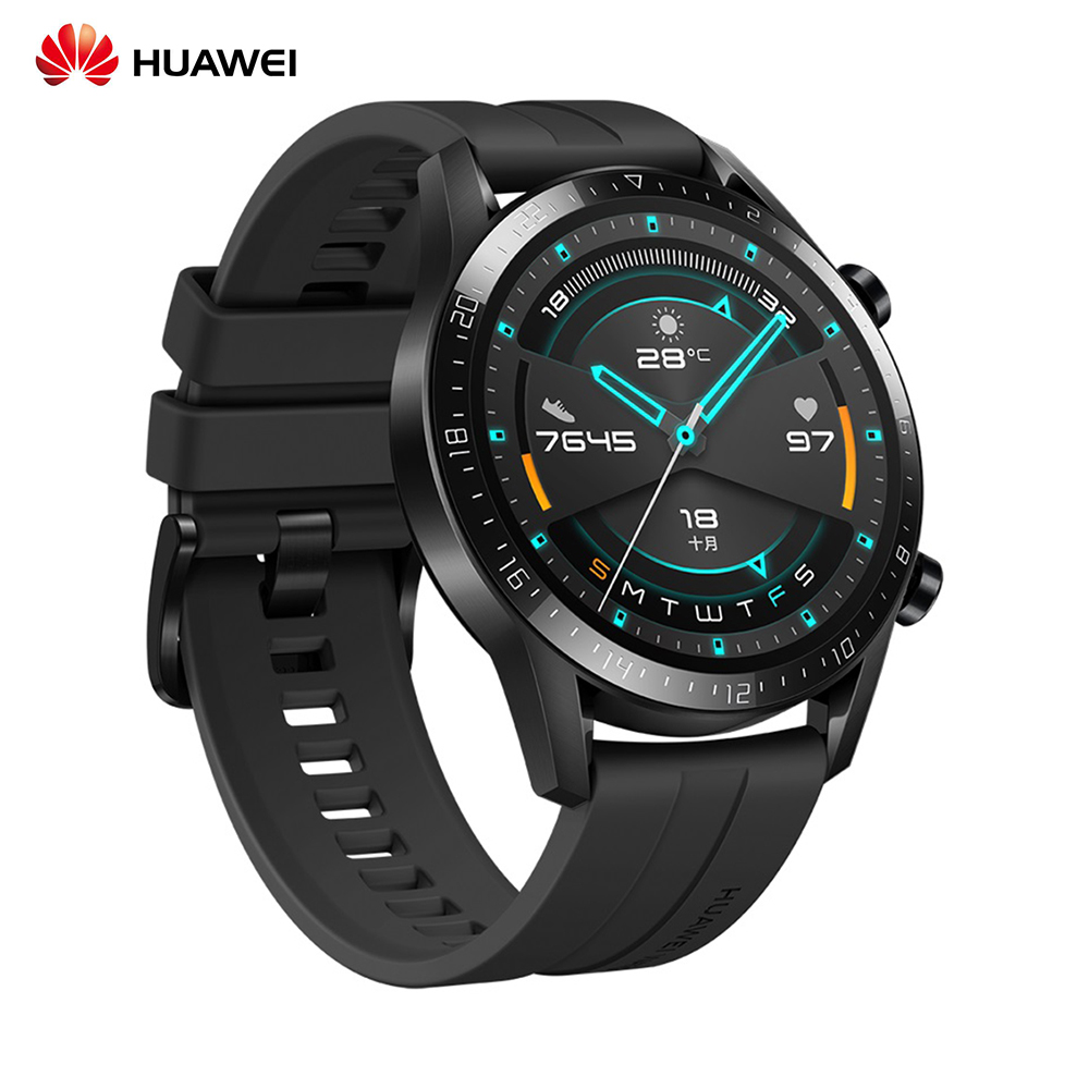 HUAWEI WATCH GT 2 46mm 5ATM Waterproof Sport Smart Watch Smart BT5.1 Music Player GPS Fitness Activity Tracker for Android/iOS