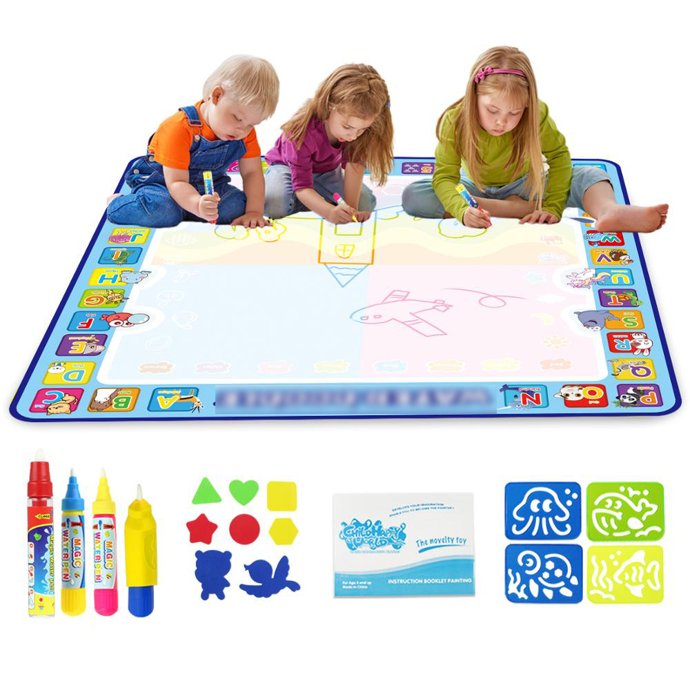 8 Types Magic Water Drawing Mat & Pen Writing Doodle Board Coloring Books Painting Tools Educational Toys Children Gift for Kids
