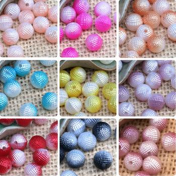 Gradient ABS sztuczna perła dwukolorowy jeden bayberry ball akcesoria ślubne wideo akcesoria diy biżuteria akcesoria tanie i dobre opinie Ze stopu aluminium Akrylowe Okrągły kształt 10mm