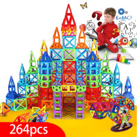 New 264pcs Mini Magnetic Designer Construction Set Model & Building Toy Plastic Magnetic Blocks Educational Toys For Kids Gift