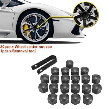 21 Pcs/set Car Wheel Nut Dust Cap Vehicle Tire Lug Dustproof Plastic Cover Removal Tool Kit, 17cm image