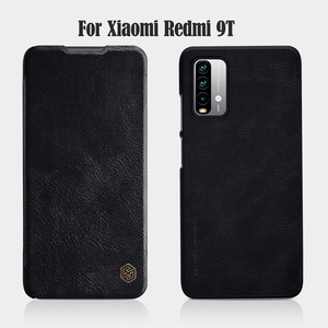 Image 5 - For Xiaomi Redmi Note 9T 5G Flip Case Nillkin Qin Leather Flip Cover Card Pocket Wallet Book Cases For Redmi 9T Note9T Phone Bag