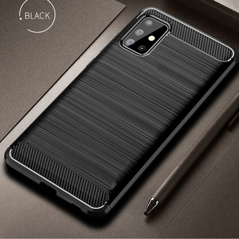Pour Samsung Galaxy A71 A51 étui en Fiber de carbone couverture antichoc téléphone étui pour Samsung A 71 51 couverture Flex pare-chocs coque Durable