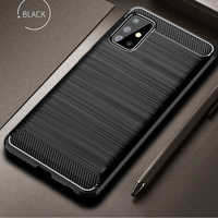 For Samsung Galaxy A71 A51 Case Carbon Fiber Cover Shockproof Phone Case For Samsung A 71 51 Cover Flex Bumper Durable Shell