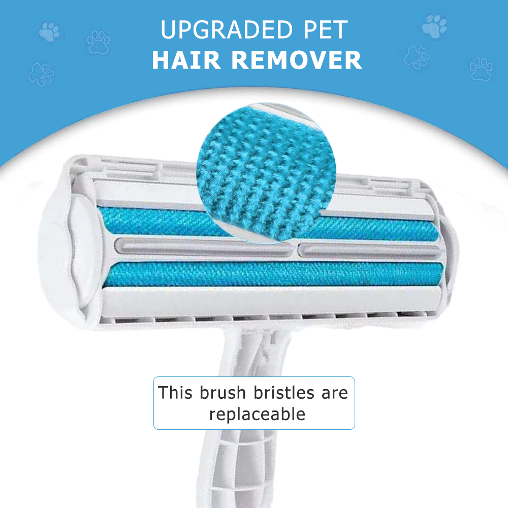 Pet Hair Roller Remover Lint Brush 2-Way Dog Cat Comb Tool Convenient Cleaning Dog Cat Fur Brush Base Home Furniture Sofa Clothe-2