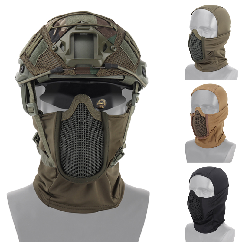 Tactical Headgear Mask Hunting Shooting Protective Airsoft Safety Mask Breathable Full Face Wargame Military Paintball Cs Masks