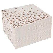 Коктейльные бумажные салфетки с горячей штамповкой из фольги цвета розового золота в горошек, бумажные салфетки, широко используемые в барных, кофейных, вечерние