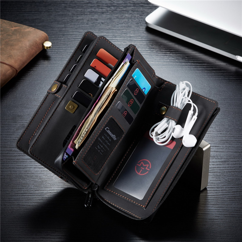 Purse Leather Case for iPhone 11 Pro XS Max XR X SE 2020 8 7 Wallet Card Cover For Samsung S20 Ultra Note 10 Plus A51 A71 Coque