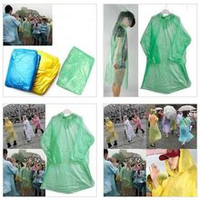 Adult Emergency Waterproof Rain Coat Raincoats Disposable Hiking Camping Hood Outdoor Tourism Non-Disposable PEVA Transparent#25(China)