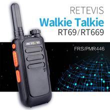 2PCS Retevis RT669/RT69 Portable Walkie Talkie PMR Radio PMR446 VOX Two Way Radio Communicator Transceiver Handy Walkie Talkie