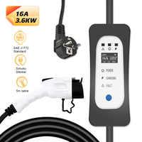 Зарядное устройство уровня 2 EV SAE J1772 16A EVSE 7M Тип 1 портативное регулируемое управление зарядными станциями для электромобилей Leaf Tesla
