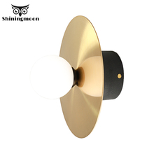 Modern LED Gold Wall Lamp Indoor Lighting Wall Sconce Light Fixtures Corridor Bathroom Aluminum Wall Lights Outdoor Bedside Lamp simple iron modern wall sconce creative led wall light fixtures for home lighting touch switch bedside wall lamp integrated