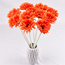 1Pcs /55cm long artificial flower gerbera for christmas flower new year decoration tree christmas home decoration wedding party