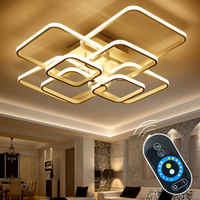 Lámpara LED De Techo moderna con atenuación remota táctil, lámpara De aluminio para comedor, dormitorio, lámparas De Techo