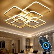 מגע עמעום שלט רחוק מודרני מתקן מנורת תקרת LED אלומיניום עבור אורות חדר שינה חדר אוכל סלון זוהר