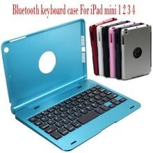 Tragbare Dünne Drahtlose Bluetooth Tastatur Folio Smart Fall Stehen Abdeckung Shell Für Apple iPad Mini 1 2 3 4