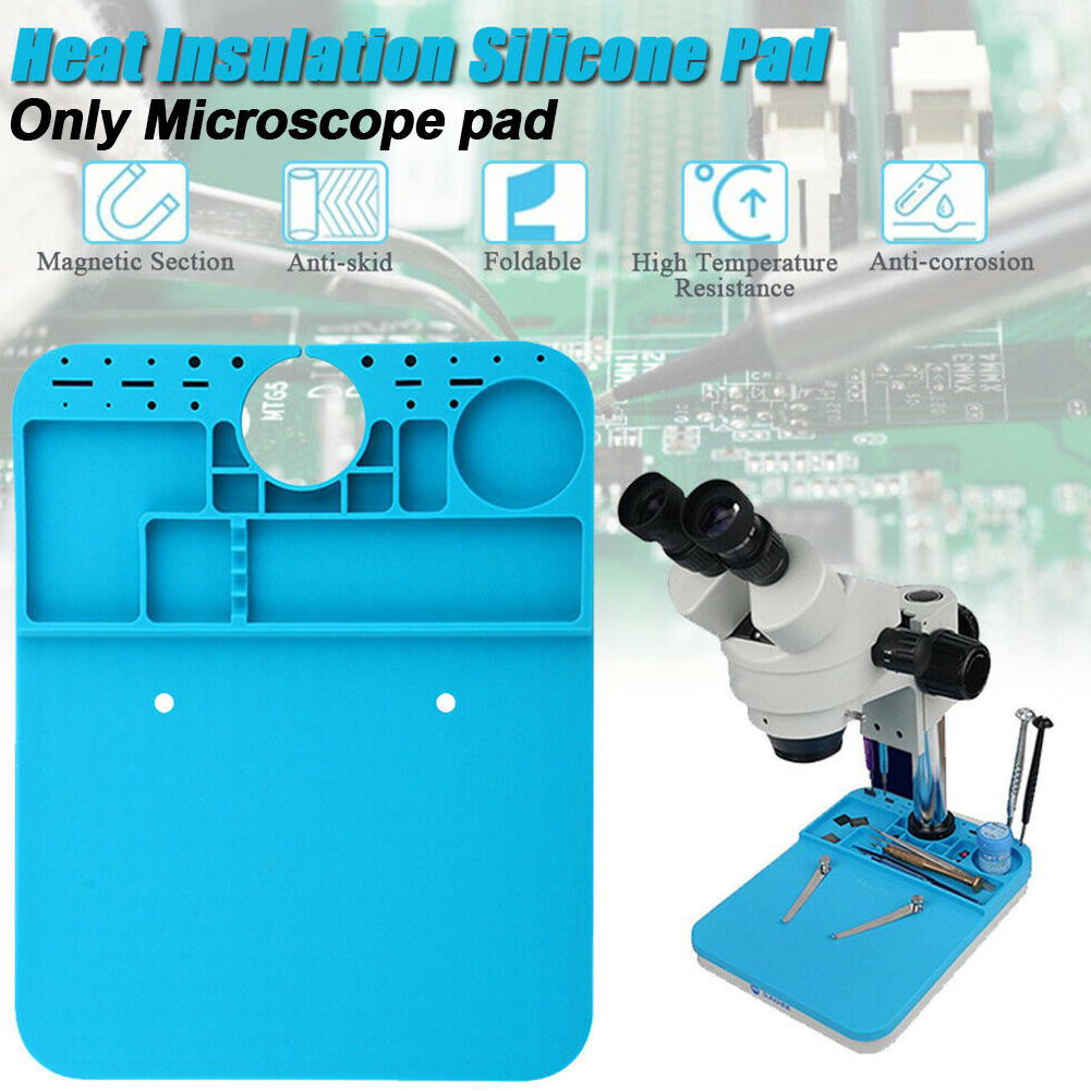 Soldering Mat Microscope Pad Anti Static Maintenance Platform Welding Thermal Insulation Heat Resistant Silicone Metalworking