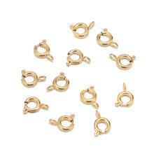 10pcs Stainless Steel 6mm Round Claw Spring Clasps Hooks For Bracelet Necklace Connectors DIY Jewelry Making(China)