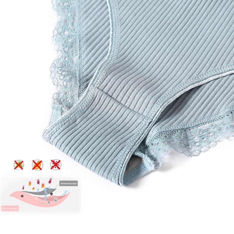 ผู้หญิง Bacteriostatic ผ้าฝ้ายลูกไม้กางเกง 2019 ฤดูร้อนใหม่เซ็กซี่ชุดชั้นในเซ็กซี่ผู้หญิงกางเกงสบายกางเกง SizeMLXL