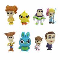 8 teile/los Spielzeug 4 Abbildung Spielzeug Buzz Lightyear Forky Woody Jessie Rex Mini Baby abbildung Spielzeug B540