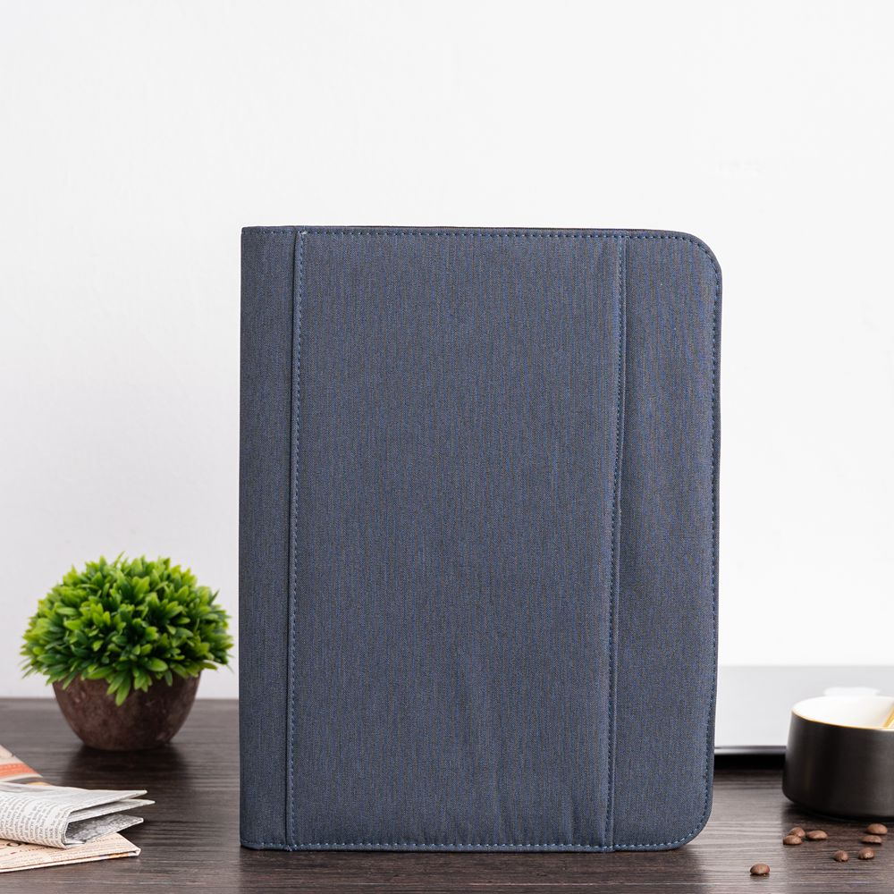 A4 Document Folder Briefcase Padfolio PU Leather Zipped Conference Bag Business File Folder Manager