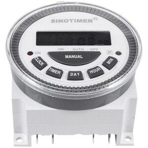 SINOTIMER Tm-619H-2 230Vac 7 дней в неделю программируемый таймер цифровой таймер переключатель освещения выход 220V напряжения с Пылезащитная крышка