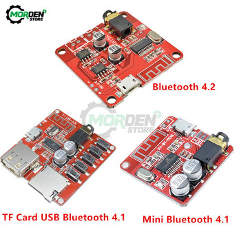 DC 3.7-5V MP3 Mini Bluetooth 4.1 4.2 Decoder Board Lossless Car Speaker Audio Amplifier Board TF Card USB Stereo Receiver Module image