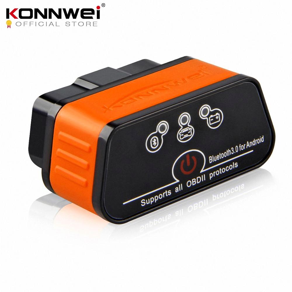 ELM327 OBD2 Scanner Auto Scanner ICar2 Konnwei Bluetooth Elm 327 V 1.5 Strumento Di Diagnostica Auto EML327 Obd 2 Scanner Eml327 V1.5