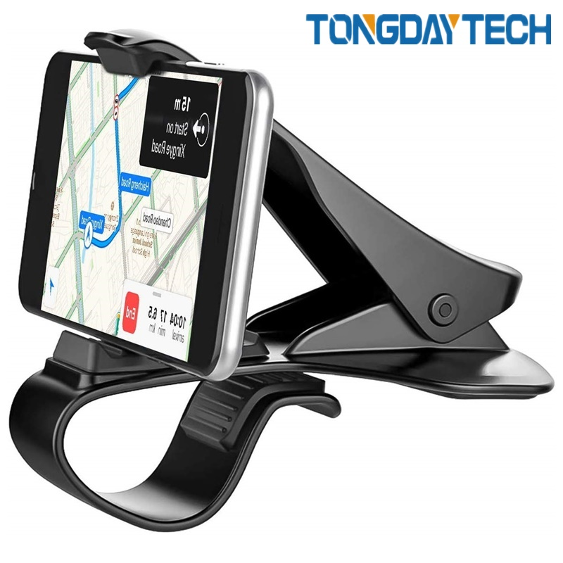 Tongdaytech HUD Car Phone Holder Stand Adjustable Clip Soft Anti Slip 6.5 Inch Mobile Phone Bracket For IPhone Samsung Huawei