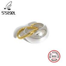 Женское кольцо s'steel 925 пробы серебряное в Корейском