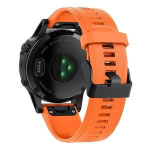 Image 5 - 20 22 26mm Silikon Sport Silikon Armband Armband für Garmin Fenix 5X 6X Pro 5 6 935 5s plus 6s 3 3HR Uhr Easyfit Handgelenk Band