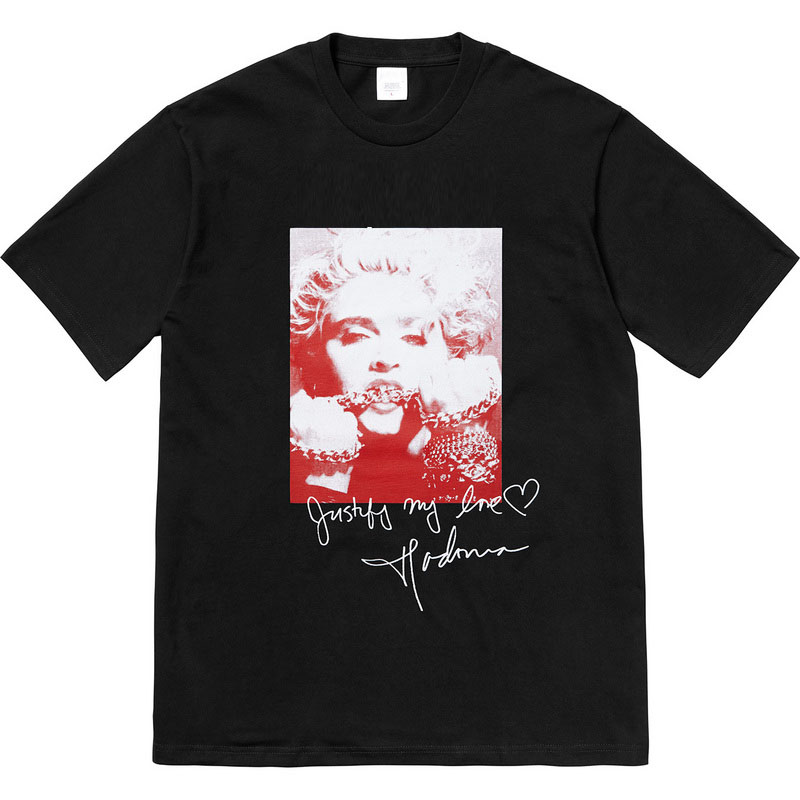 Sureme 2020 High Quality Madonna Signature T-shirt Men Women Couples Tees 100% Cotton T Shirt Men