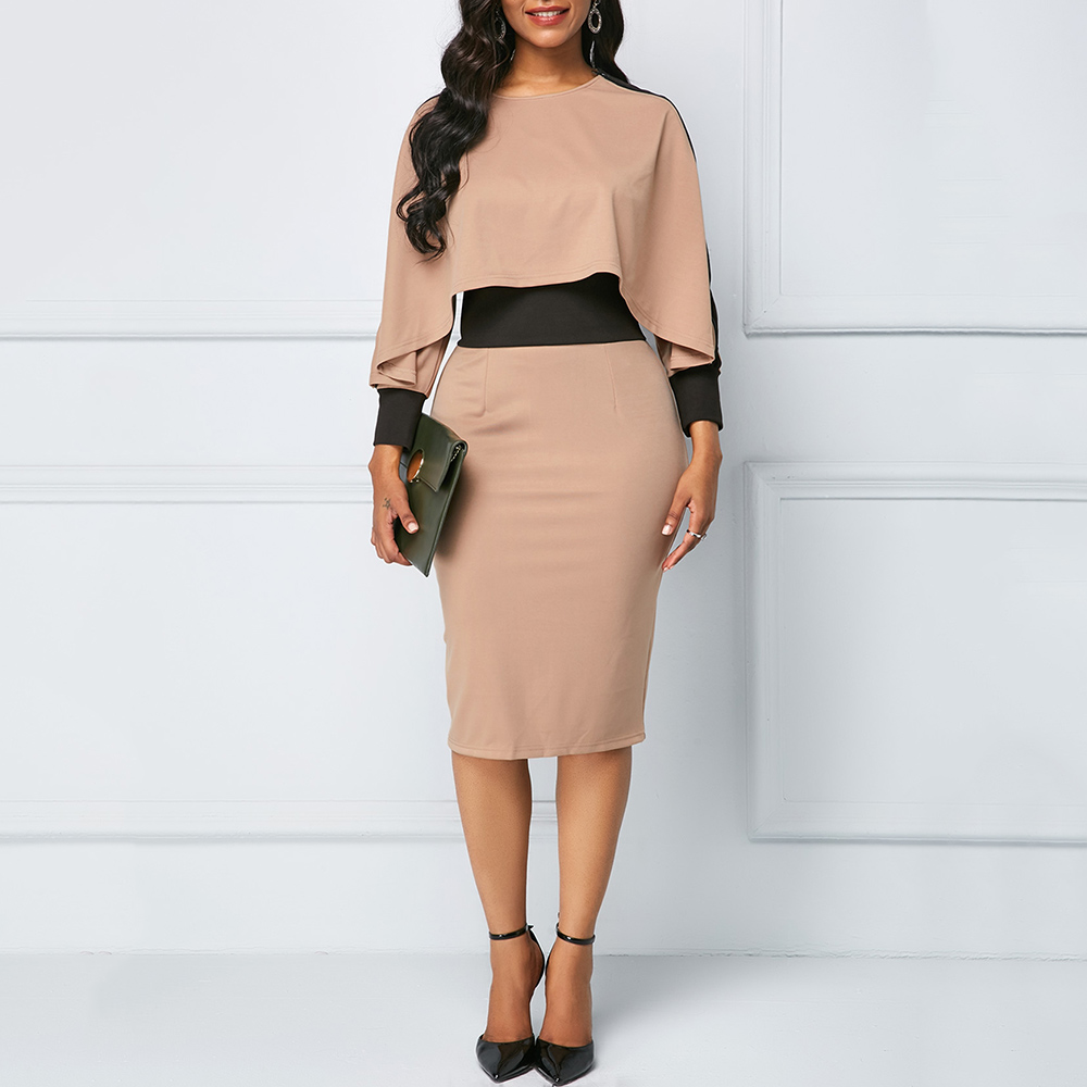 Elegant Ladies Office Dresses Sexy V-neck Women Sheath Bodycon Dress Summer Female Asymmetrical Slim OL Tunic Dress Workwear H40