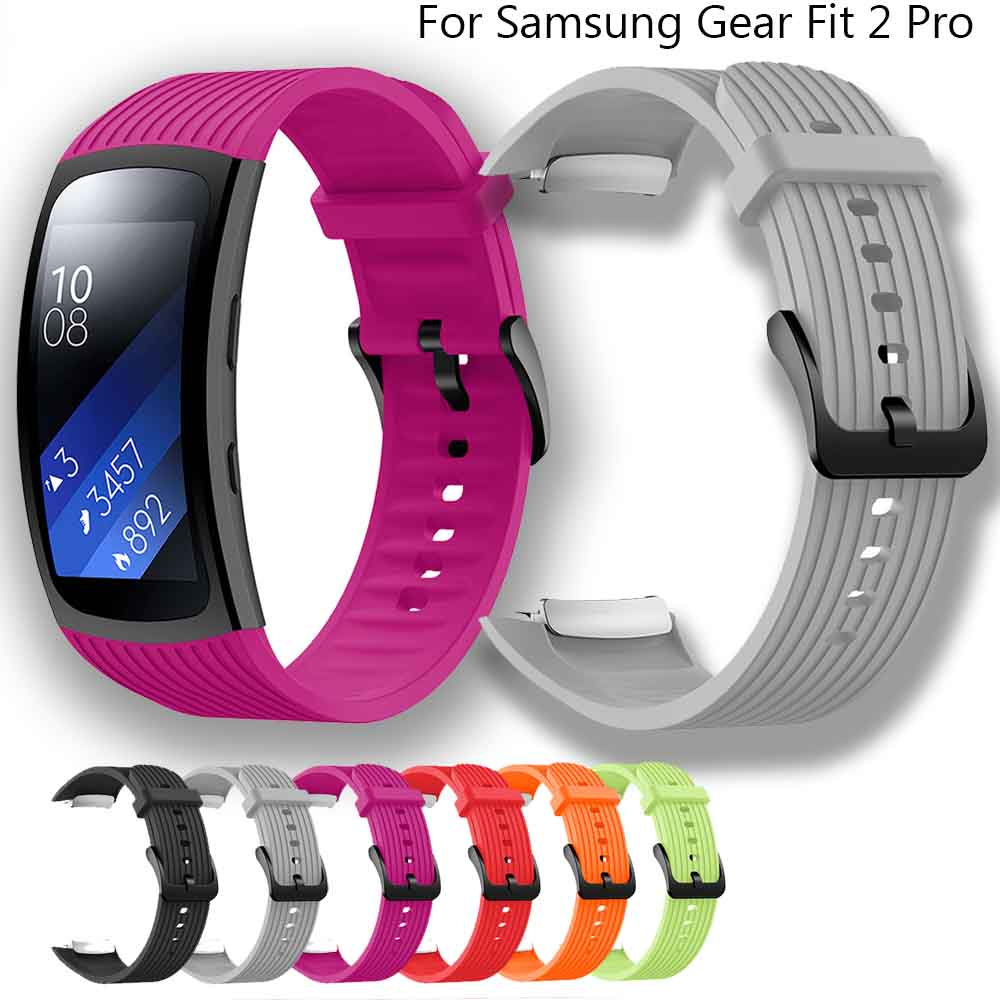 L/S  Size Watch Band For Samsung Gear Fit 2 Pro Bracelet Sport Silicone Wrist Band Strap For Samsung Fit2 SM-R360 Waterproof