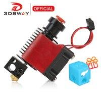 3DSWAY V6 salida Hotend Kit de J-La disipador de calor de extrusor climatizada de calor romper boquilla 1,75 para E3D Bowden directa extremo caliente 3D piezas de la impresora