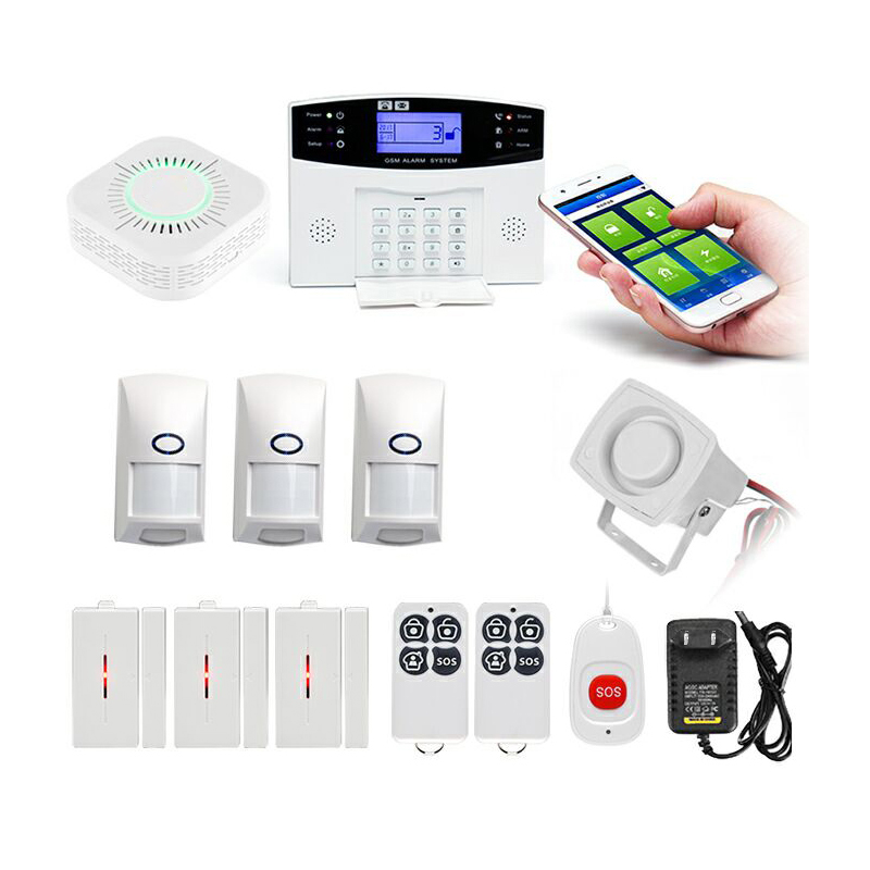 GSM Burglar Alarm Home Infrared Pet Set Wireless Alarm Home Alarm(US PLUG)