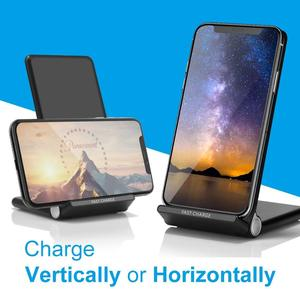 Image 3 - 15W Snelle Draadloze Oplader Stand USB C Qi Quick Opvouwbare 2 in 1 Opladen Pad Station Voor IPhone 11 Pro XS XR X 8 Samsung S10 S9