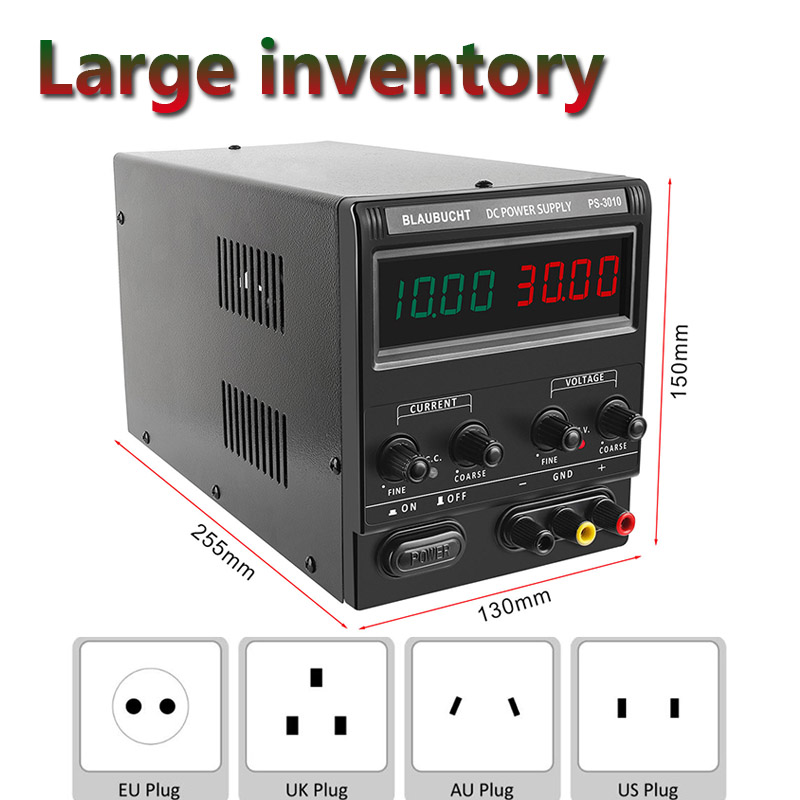 <font><b>30V</b></font> 10A Switching <font><b>Power</b></font> <font><b>Supply</b></font> Lab Transformer DC <font><b>Power</b></font>-<font><b>Supply</b></font> <font><b>Adjustable</b></font> Voltage Regulator Shipping 120V 3A 60V <font><b>5A</b></font> <font><b>30V</b></font> <font><b>5A</b></font> image