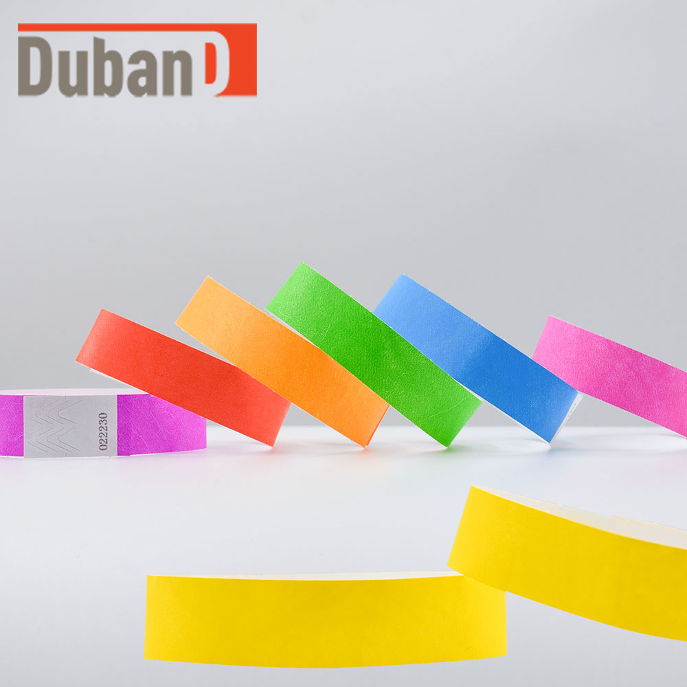 Wristbands Paper-Wrist-Strap Party-Bracelet Ticket Event Tyvek 100PCS Dupont Multicolored title=