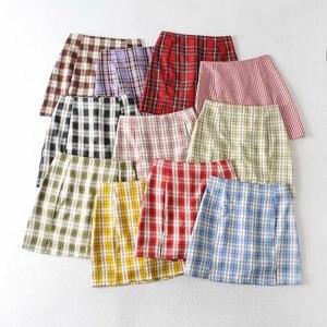 Woah 2020 NSS38-2020 new grid C361 split security pants skirts package buttocks short skirt