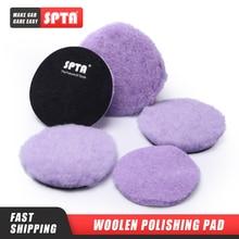 Фиолетовый шерстяной диск SPTA 2/3/5/6 дюймов, густая полировальная накладка высокой плотности для детали автомобиля, лак для полировки