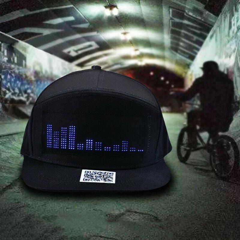 H55c84699b25a446cbdcc717bacf7fe6cW - Casquette avec Message à LED