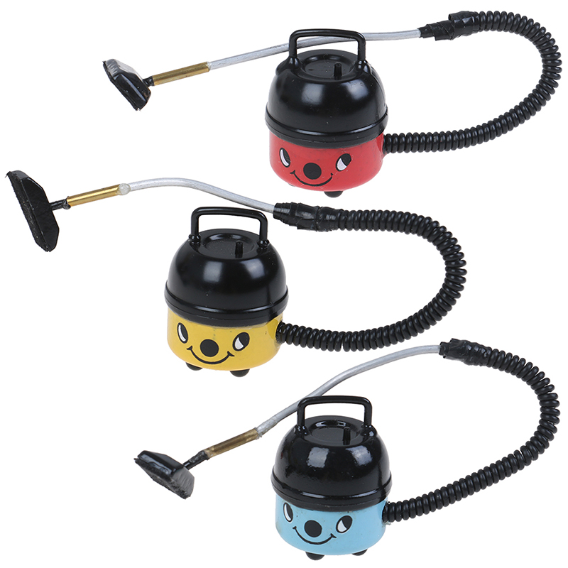 1PCS Vacuum Cleaner Black And Blue 1/12 Dollhouse Miniature Accessory Baby Toys