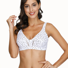Women's Cotton Bra Unlined Full Coverage Non-padded Underwear Plus Size Wireless Lingerie 32 34 36 38 40 B C D DD E Cup  - buy with discount