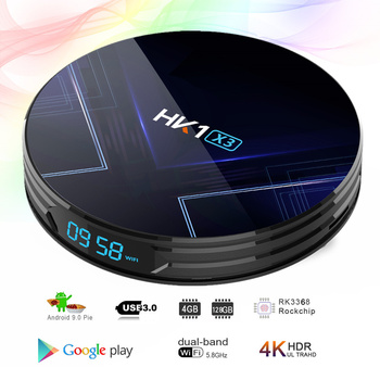 S905X3 HK1 X3 amlogic Android 9,0 4GB 32G/64G/128GB 2,4G 5G Wifi BT 4,0 1000M lan port Youtube 8K opcional g30 air mouse